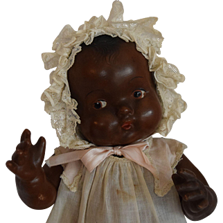 Black Composition Character Toddler Doll