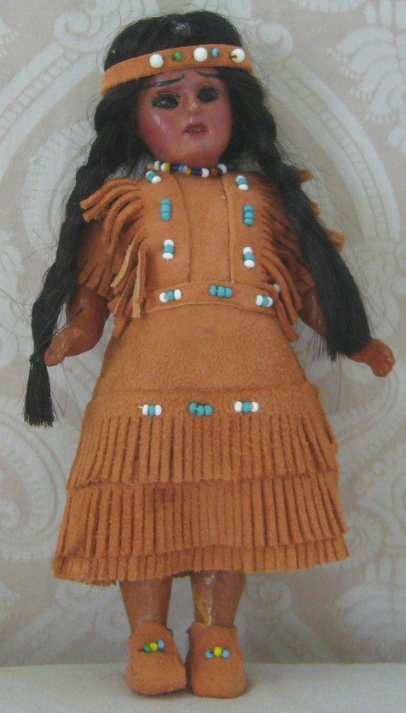 All Original Max Handwerck Native American Indian Painted