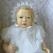 One of a Kind Artist Created Wax Character Baby Doll - Red Tag Sale Item