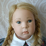 German Sigikid Vinyl Artist Doll by Sabine Esche
