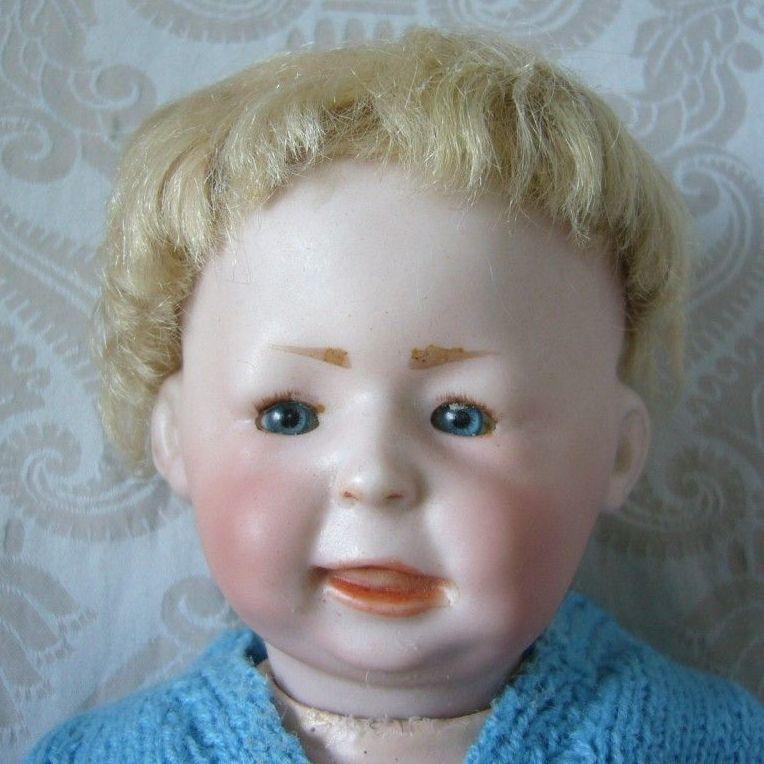 Simon & Halbig German Bisque Head Character Baby