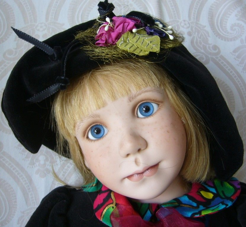 """""""Apple Annie"""" Limited Edition Porcelain Doll by Julia Rueger"""