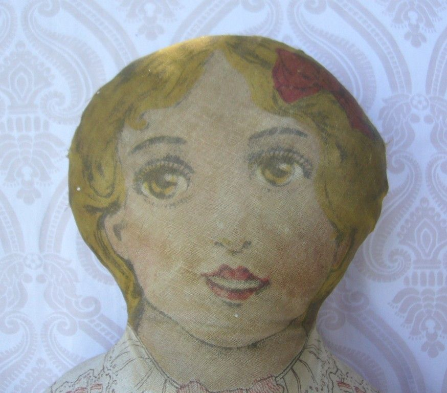 Lithograph Printed Cloth Doll