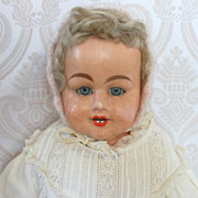Antique German Papier Mache Doll by F. M. Schilling