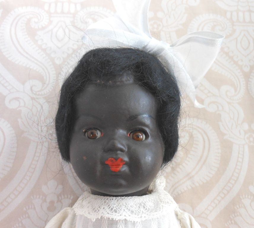 Early 20th Century Papier Mache Black Toddler Doll
