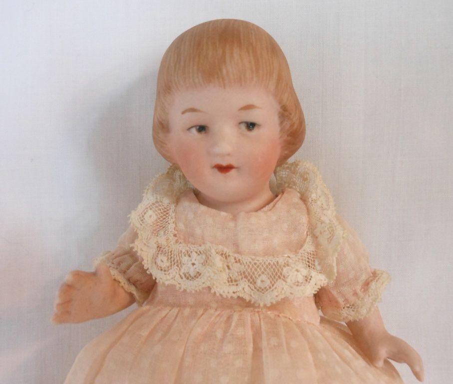 Sweet German All Bisque Gebruder Heubach Child Doll