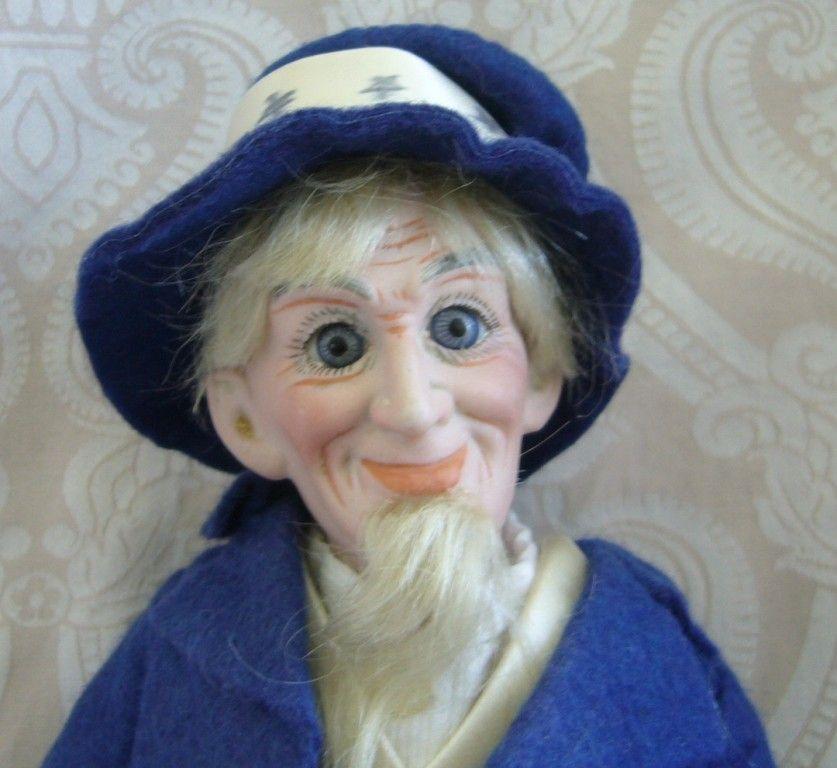 Cuno & Otto Dressel German Bisque Head Portrait Series Uncle Sam Doll