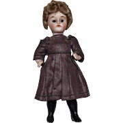 German All Bisque Doll with Long Black Boots