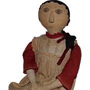 Large and Wonderful Antique Cloth Folk Art Doll