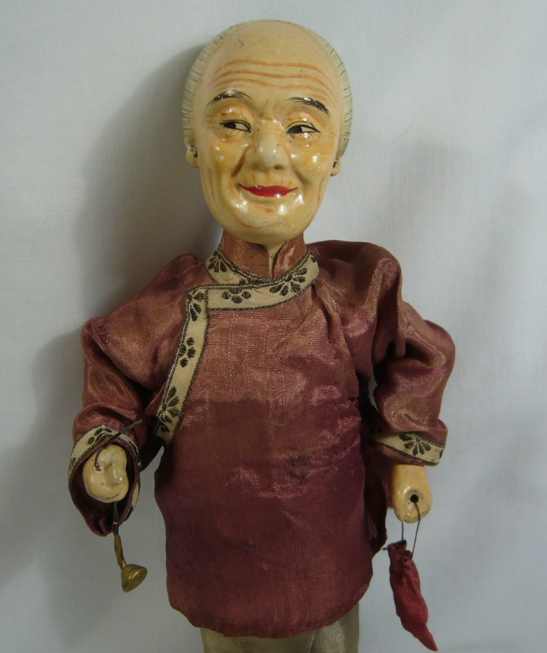 Chinese Composition Character Lady Doll with Pipe