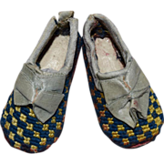 Petite Needlepoint Doll Slippers