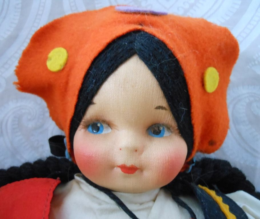 Georgene Novelties Cloth Doll in Russian Costume