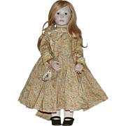 """Beth"" Limited Edition Porcelain and Wood Artist Doll by Lynn and Michael Roche"