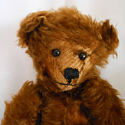 """Miss Ewing"" A Vintage Brown Mohair Teddy Bear"