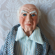 Charles Dickens Character Scrooge Porcelain Limited Edition Artist Doll by Linda Wingerd-Graham