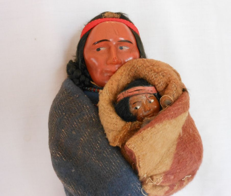 Skookum Indian Native American Mother and Baby Composition Doll