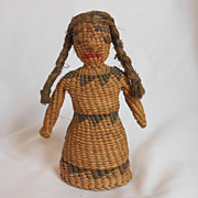 Folk Art Native American Doll Woven Doll