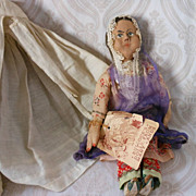 All Original Cloth Indian Doll in Burka Veil by Bullock's Dolls from Many Lands