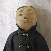 Vintage Chinese Cloth Man with Ink Drawn Face