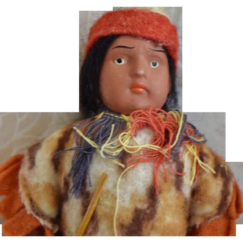 Native American Doll in Original Costume