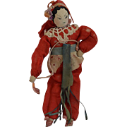 Chinese Cloth Doll with Ink Drawn Face