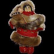 Small Alaskan Souvenir Doll with Baby