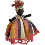 All Original Hard Plastic Black Souvenir Doll from Martinque