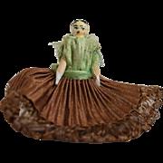 Tiny German Peg Wooden Doll