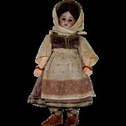 Simon & Halbig German Bisque Head Doll in All Original Ethnic Costume