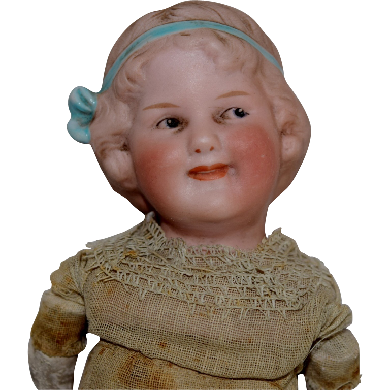 Gebruder Heubach German Bisque Head Character Doll Coquette