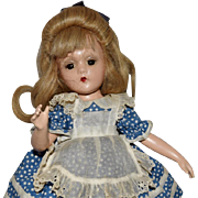 Rare Composition Madame Alexander Alice in Wonderland Wendy Ann Face with Swivel Waist