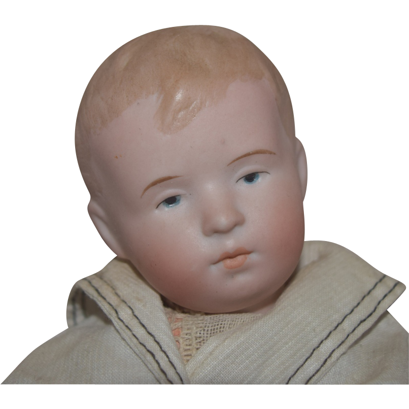 German Bisque Head Character Boy by Steinbacher