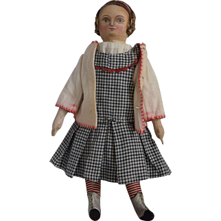 OOAK Cloth Artist Doll, Iva Ruth, by Rhonda King