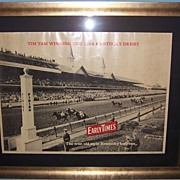 Early Times Bourbon Whiskey Advertising Poster 1958 Kentucky Derby