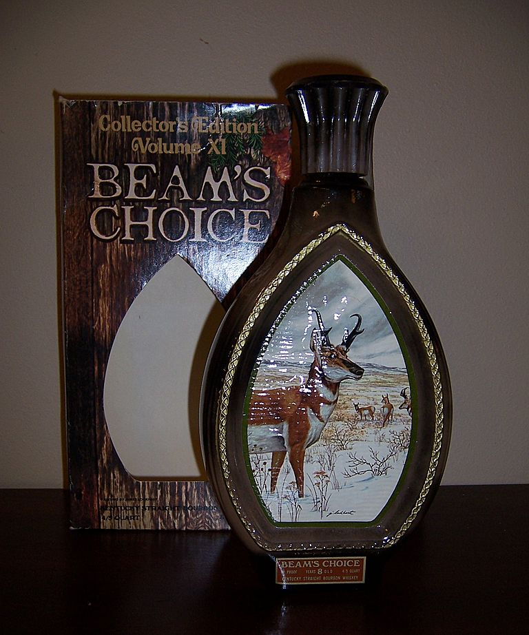 Jim Beam Collector's Edition Wildlife Decanter, Pronghorn Antelope