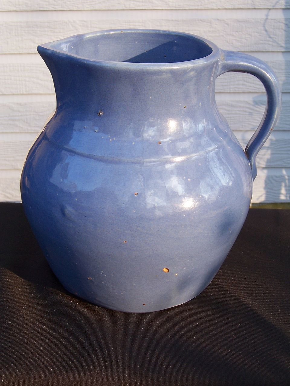 Vintage Large Blue Pitcher