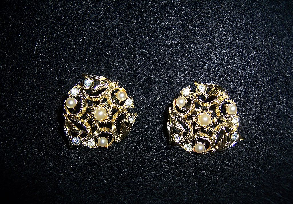"Vintage Sarah Coventry ""Coronation"" Clip Earrings"