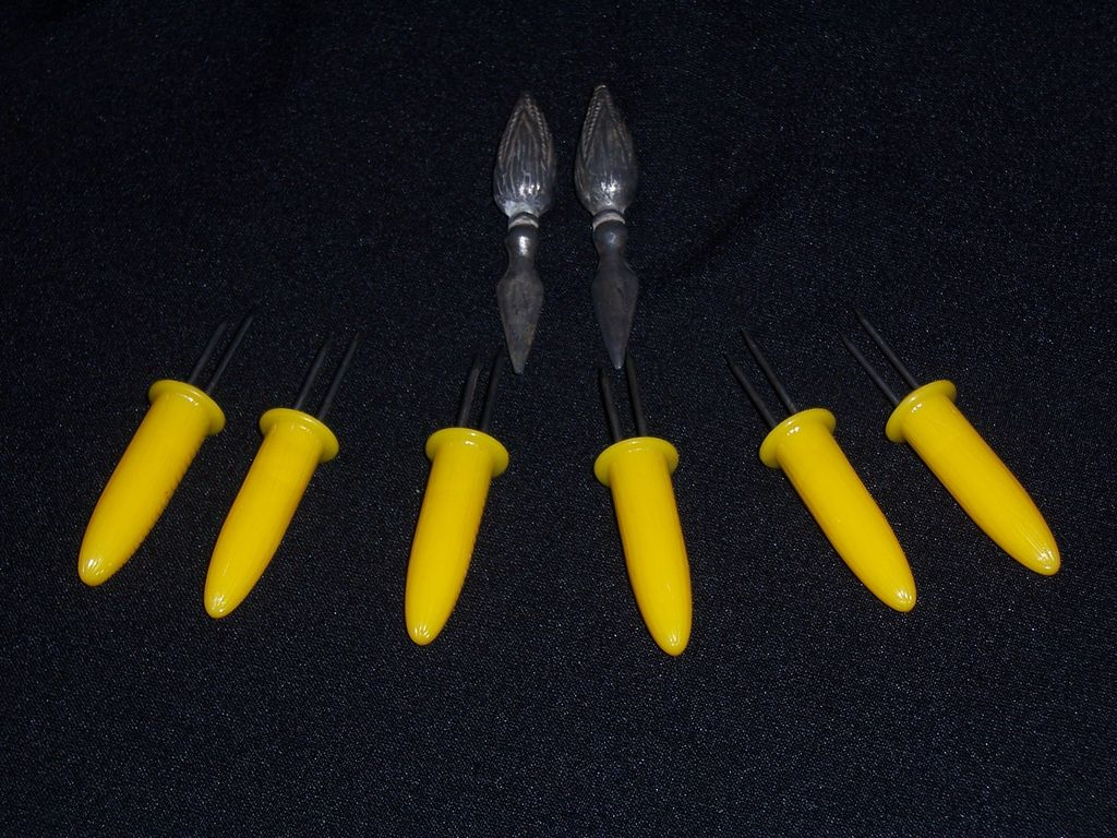 Vintage Corn Cob Holders, Assorted Set