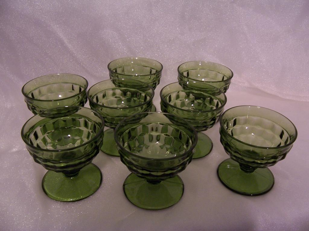 "Indiana Glass ""Whitehall"" Pattern Footed Sherbet, Set of 8"