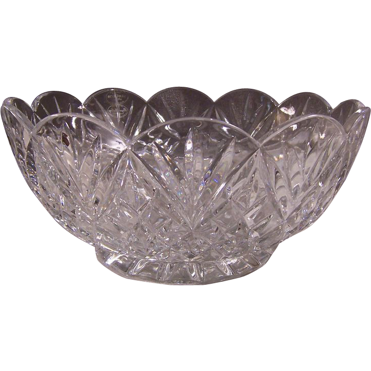 SamObor Handmade 24% Lead Crystal Scalloped-Edge Bowl, Made in Croatia