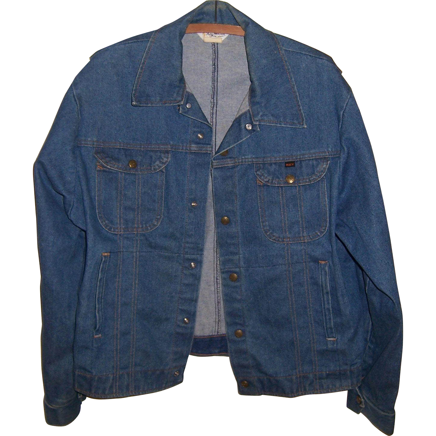 Vintage 1970's Key Imperial Men's Denim Jacket, Size M