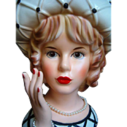 Super Fabulous SUPER H.T.F. Head Vase RELPO K1809 Chris Cross Chrissy Headvase