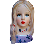 Fabulous All AMERICAN BEAUTY Head Vase LOVE Teen H.T. Find Headvase