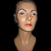 Lovely Vintage 1930'S MARLENE DIETRICH Mannequin Head PLASTER Millenary Display