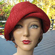 VINTAGE Original Showstopper FRENCH 1920's Movie Star Inspired PAPIER MACHE Mannequin Head