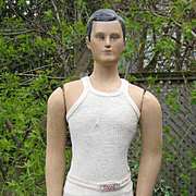 RARE Vintage & Antique 1920's Counter Display BVD Advertizing MANNEQUIN W/Original Underwear