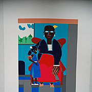 """Family"" Serigraph by ROMARE BEARDEN Very Small Ltd. Edition by Renown BLACK AMERICAN Artist"