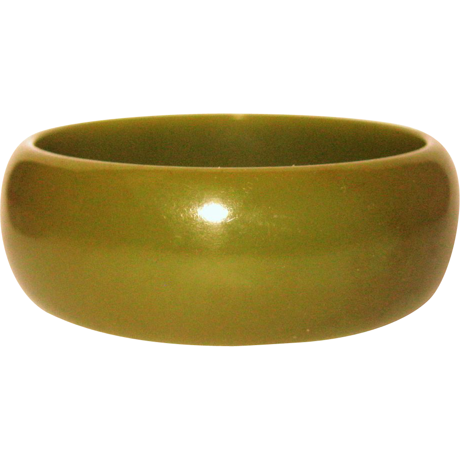 vintage olive green bakelite bangle bracelet from rubylane