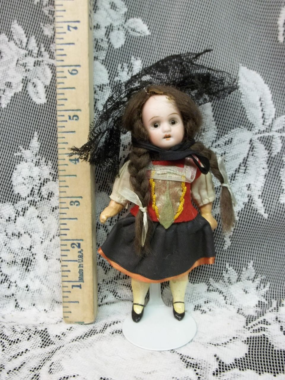 "5 & 1/2  "" Antique German Bisque Doll 5 Piece Compo Body AO"