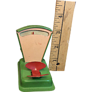 Vintage Tiny Tin Toy Grocery Store Produce Scale